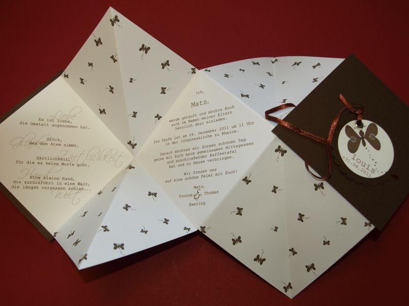 exclusive taufeinladung / einladung zur taufe | tinte und produkte, Einladungsentwurf