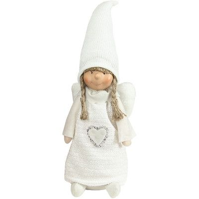 Northlight Snowy Woodlands Girl Angel Decorative Christmas Tabletop Figure