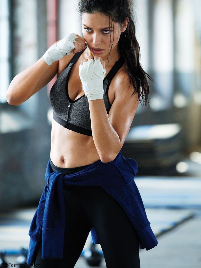 eee8d48dbaec6 Adriana Lima shows off her toned abs for Victoria s Secret VSX collection.   adrianalima  vsx