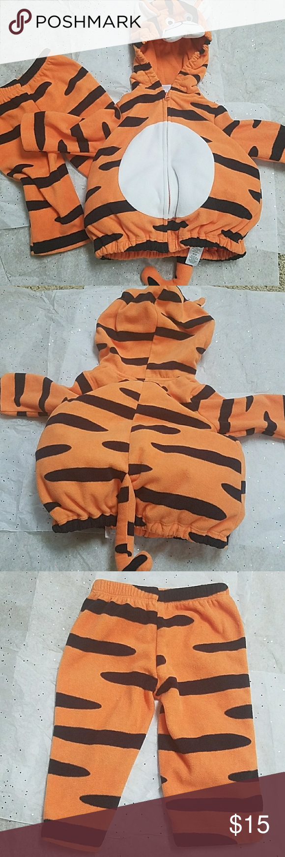 301df5e2d Tiger baby costume Super adorable fleece baby tiger 2-pc costume. polyfil  around waist area. EUC Carter's Costumes