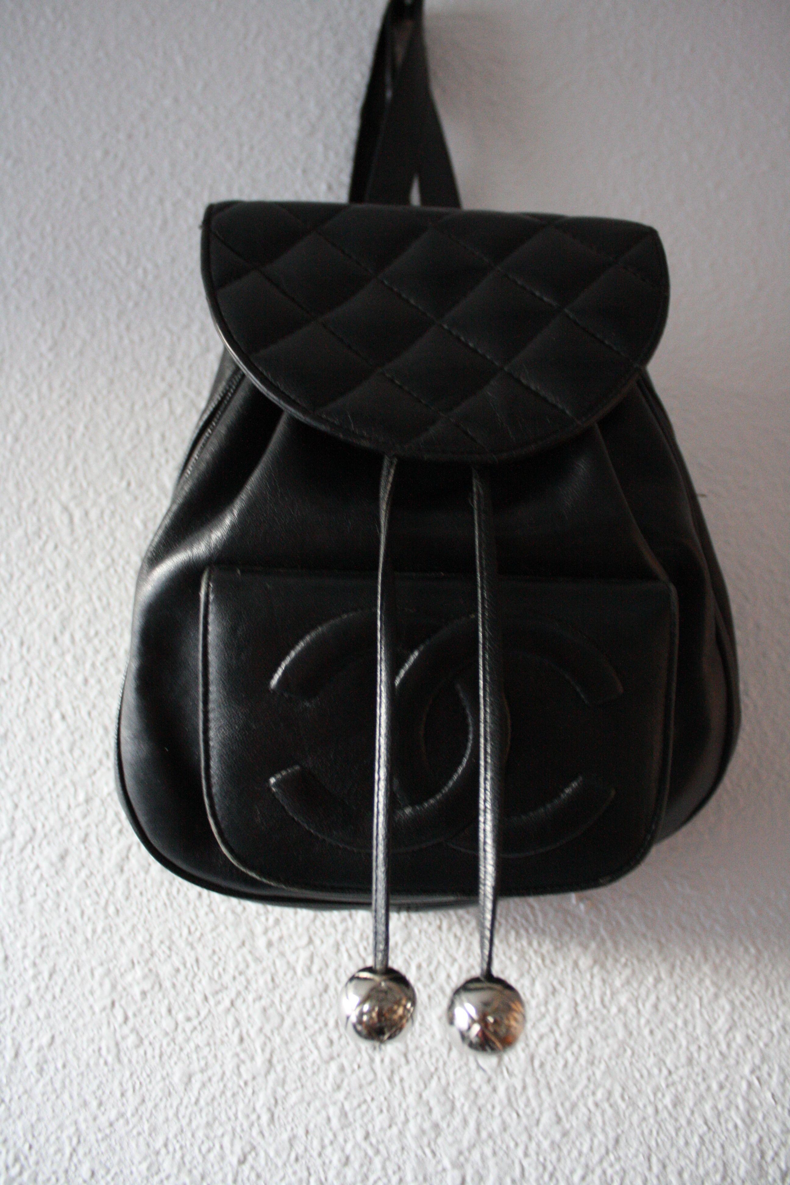 Chanel handbag superb vintage chanel bag vintage leather - Vintage Chanel Backpack