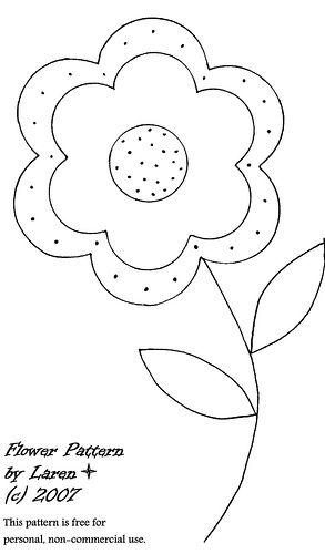Novos Moldes De Flores Para Imprimir Apliques Riscos Para