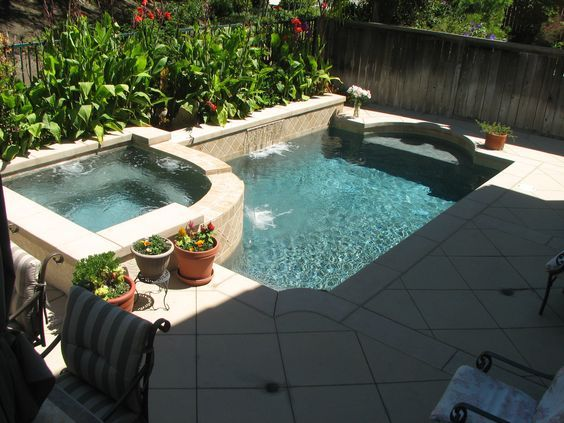 Integrates well with patio...Small Pool Designs | Small Backyards ...