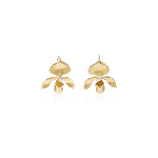 Annette Ferdinandsen Keshi Pearl Lady Slipper Earrings (127.455 RUB) via Polyvore featuring jewelry, earrings, annette ferdinandsen jewelry, 18k jewelry, earrings jewelry, pearl jewellery и 18 karat gold jewelry