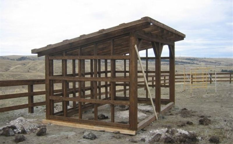 Easy horse shelter plans exterior outbuildings for Horse barn plans blueprints