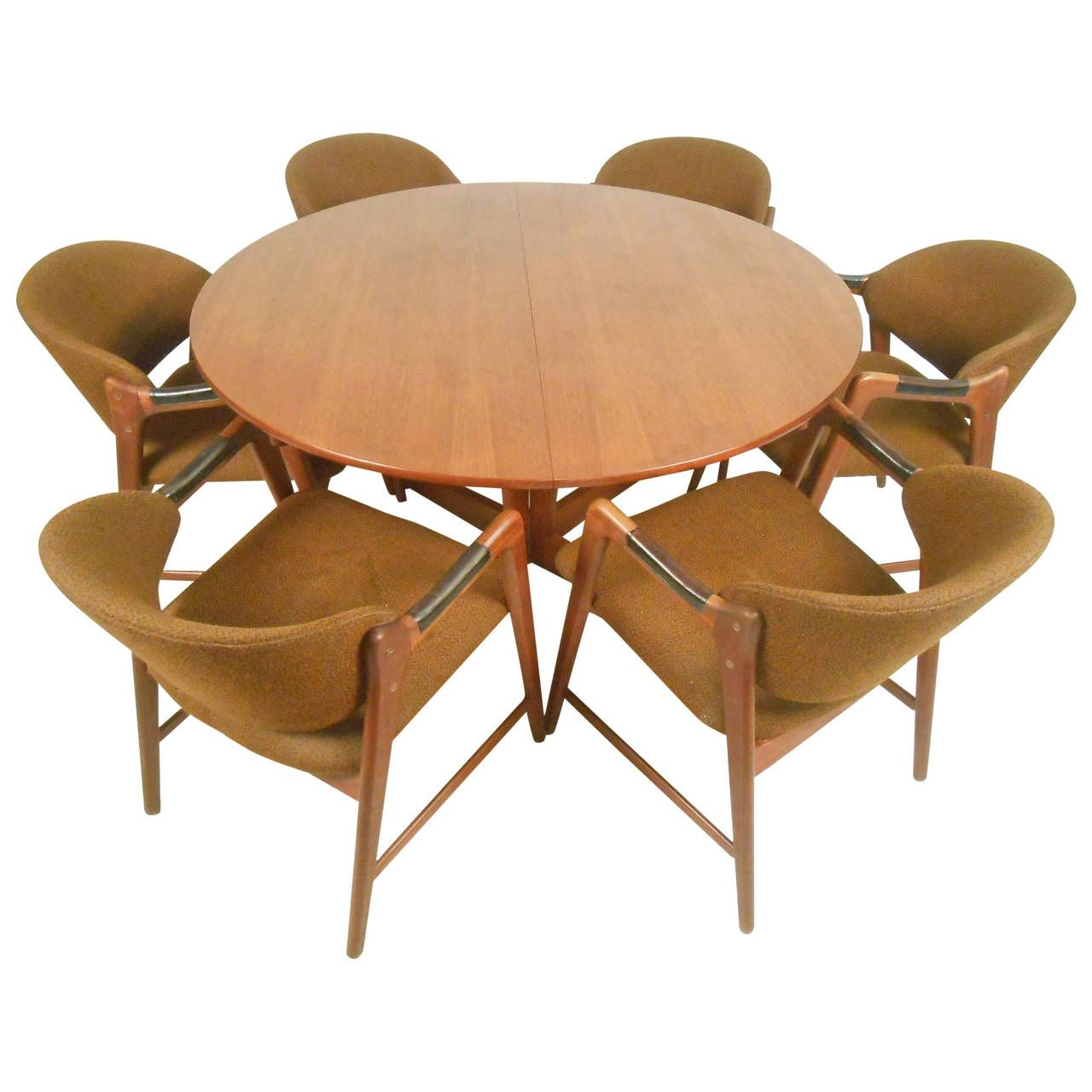 MidCentury Modern Teak Dining Set With Westnofa Chairs Antiques - Mid century modern dining room table