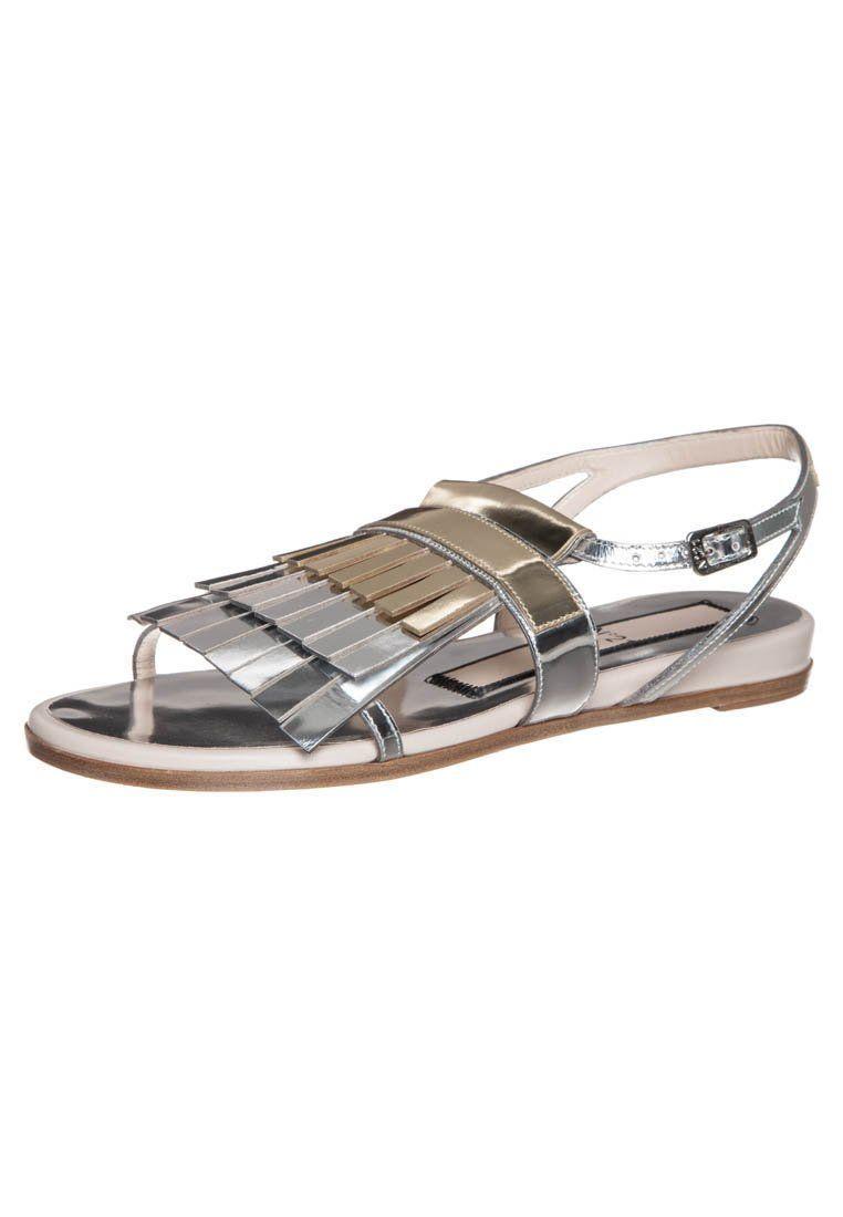 N° 21 ITALO 10 Sandalen zilverkleurig