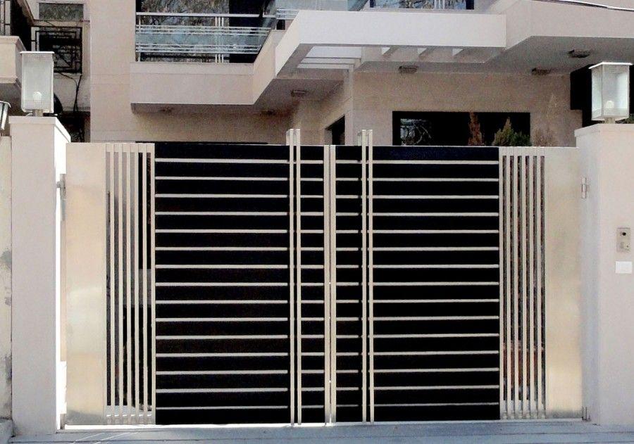 Modern stainless steel main gates design idea fences