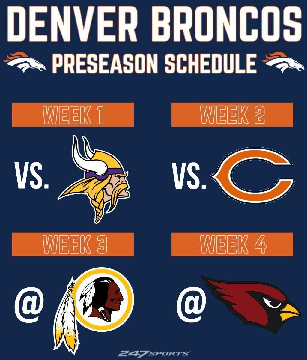Denver broncos 2018 preseason schedule