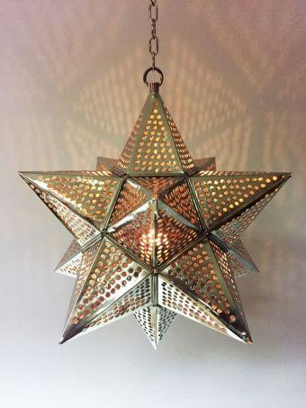 orientalische orient marokko silber stern h ngeleuchte lampe leuchte laterne neu lampes. Black Bedroom Furniture Sets. Home Design Ideas