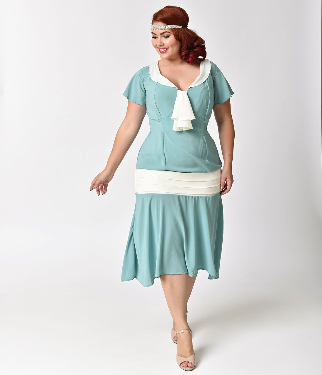 Plus Size Vintage Dresses, Plus Size Retro Dresses | Flappers, 1920s ...