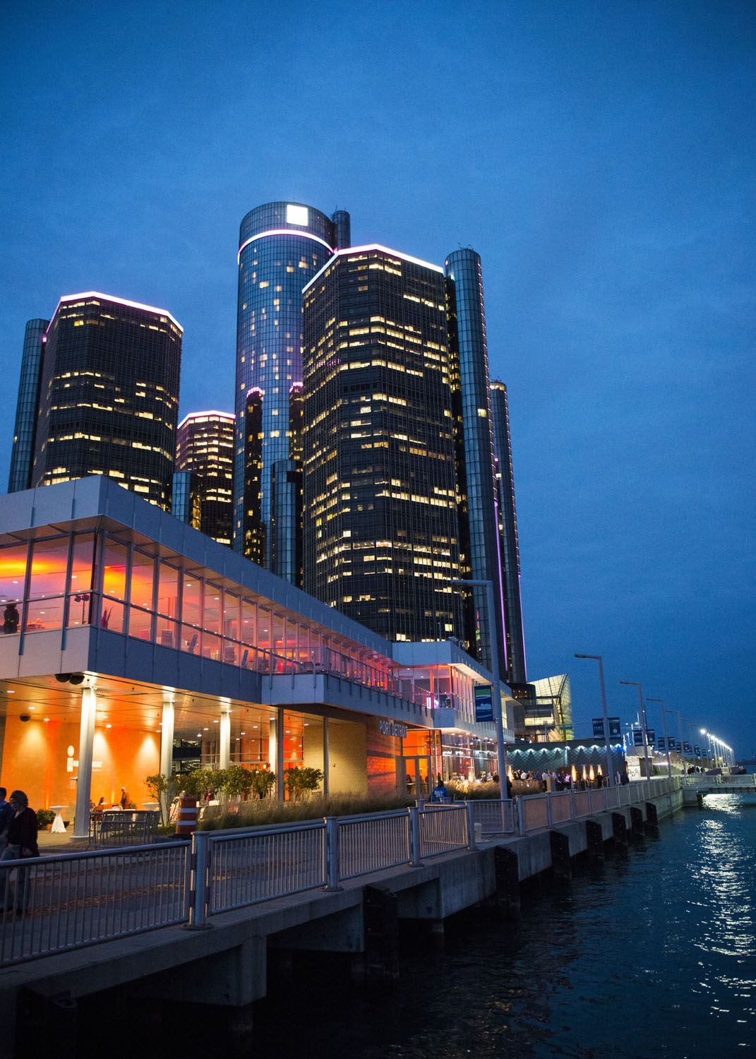 Waterview Loft has a great view of The Renaissance Center