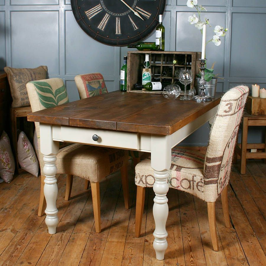 Solid Wood Vintage Farmhouse Table Farmhouse kitchen