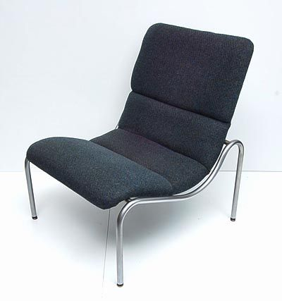 Tubular steel fauteuil 1 Model 703 with grey upholstery design Kho Liang Le 1968 executed by Stabin Woerden / the Netherlands If items have to be sent outside of Holland please inquire for sending costs prior to bidding