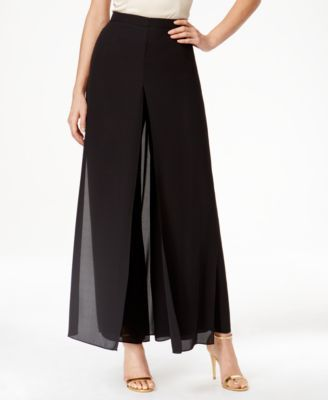47ff4ea6d0 Tahari ASL Chiffon Overlay Wide-Leg Pants | Fashion in 2019 | Pants ...