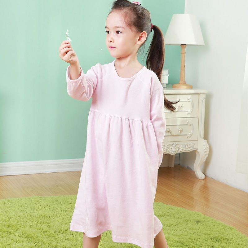 3a29fe55569c Nightgown For Children Spring Autumn Cotton Long Sleeve Nightdress Kids  Girl Sleep Robe Nightwear-in Nightgowns from Mother   Kids on  Aliexpress.com ...
