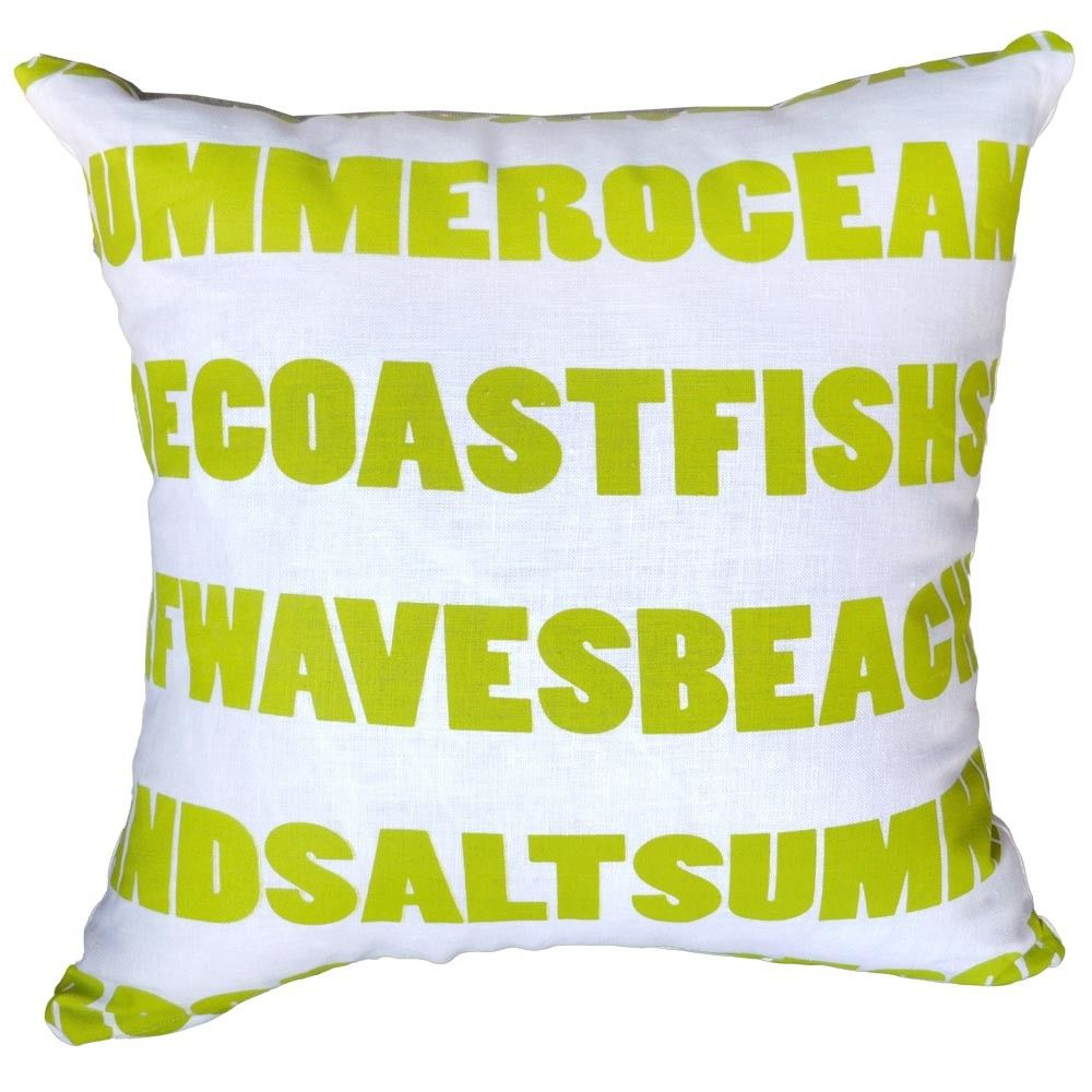 White and lime words cushion k trade on temple u webster today