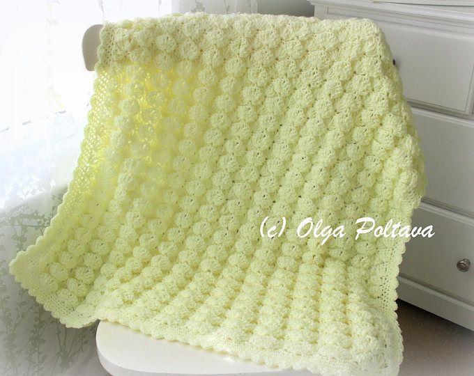 Marshmallow Baby Blanket and Hat Crochet Pattern, Newborn Baby Easy ...