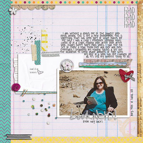 1 photo + ledger paper + borders + scatter