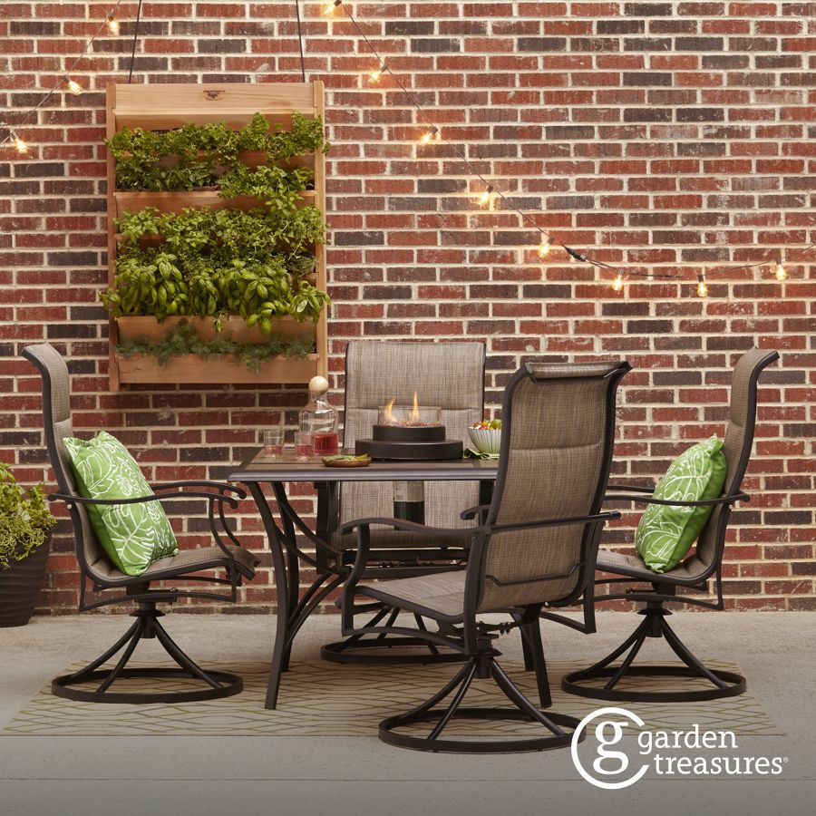 Lowes Outdoor Table And Chairs Shop The Skytop Patio Collection On Lowes Backyard Ideas In