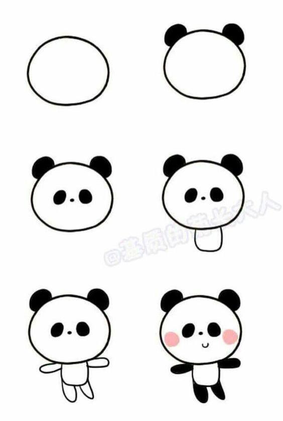 Paso A Paso Para Dibujar Un Osito Panda Kawaii Aprendemos A Dibujar Todo Bon En 2020 Como Dibujar Un Oso Dibujos De Animales Sencillos Dibujos Sencillos Para Ninos