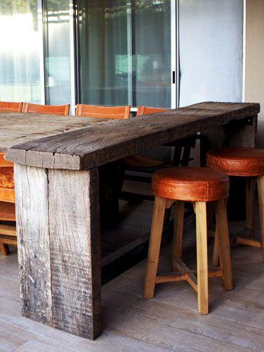 La barra muebles pinterest taller para el hogar y for Modelos de sillas para barra en madera