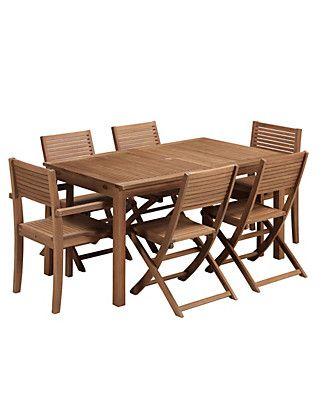 Nordina Extending Dining Table & 6 Chairs | M&S | Outdoor furniture ...