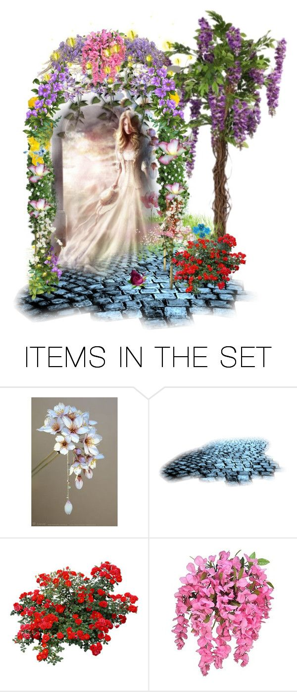 """""""The Arbor.."""" by marlenajo-b ❤ liked on Polyvore featuring art and flowersinart"""