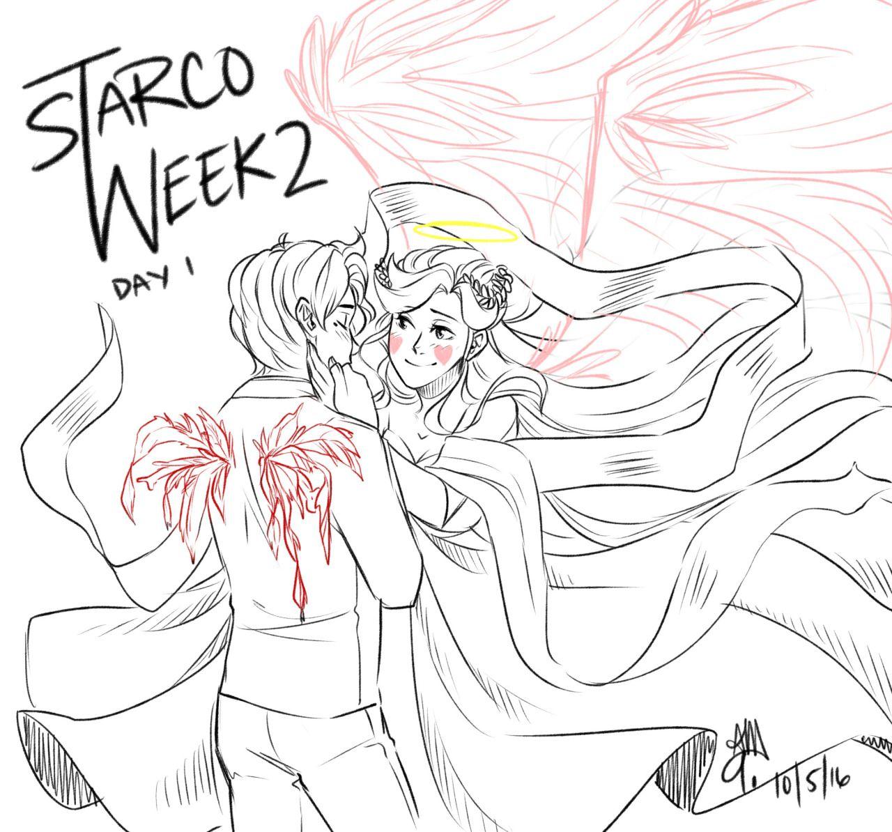 starcoweek2 Starco Week 2 Day 1 - Angel and Devil AU My idea is that ...