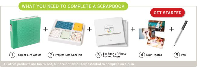 """Project life - """"scrap booking"""" made easy. Canadian website."""