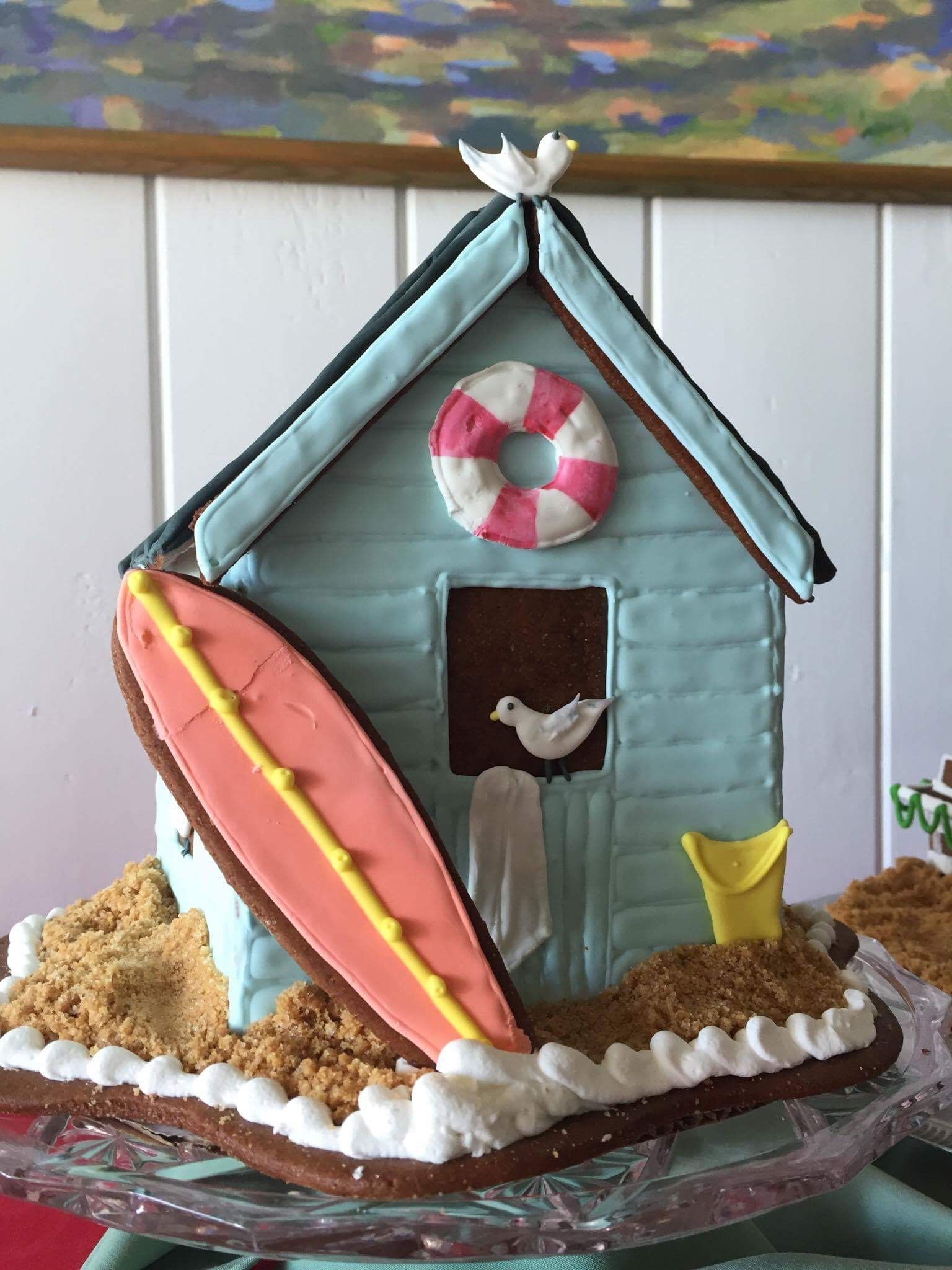 Beach Cottage in Gingerbread Gingerbread house cookies