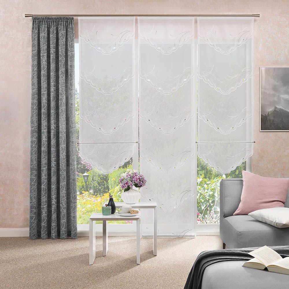 Gardinen Paneel Und Dekostoff Für Ihr Wohnzimmer Gardinen Wohnzimmer Modern Vorhänge Gardinen Gardinen