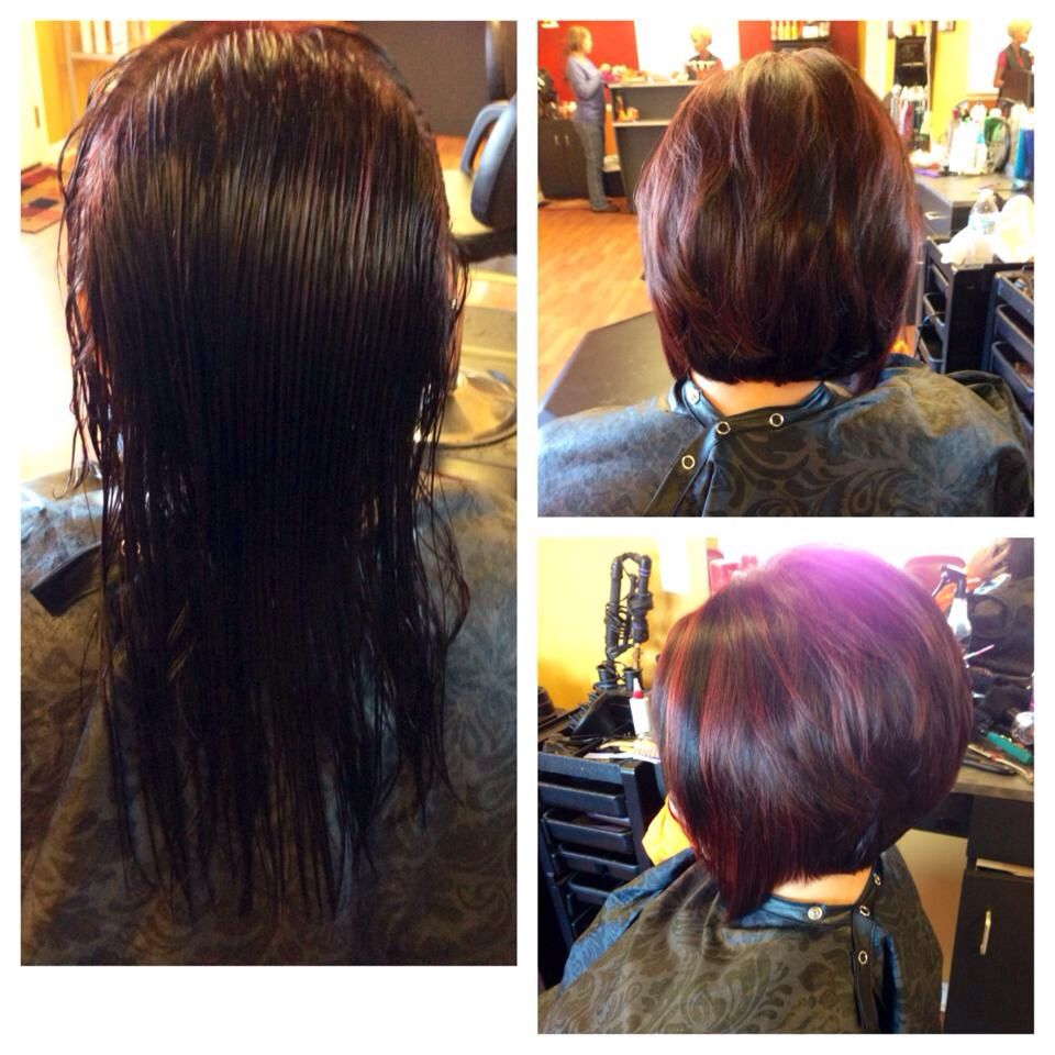 Diagonal Cut With Dark And Red