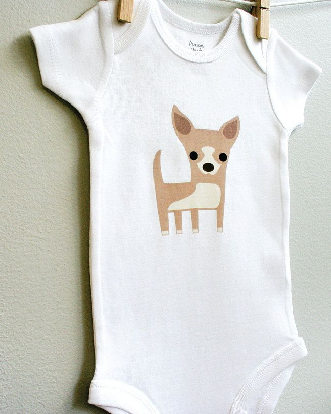 Baby Boy Clothes Chihuahua Baby Bodysuit Coming Home Outfit