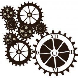 sticker horloge rouage sur mesure personnalis rouages pinterest horloge sur mesure et. Black Bedroom Furniture Sets. Home Design Ideas