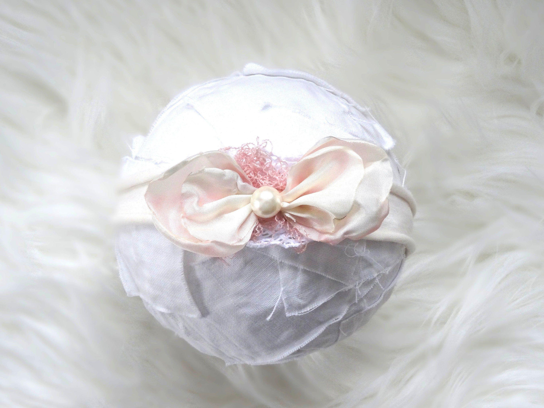 Newborn Flowers Headband Blush Baby Photography Prop