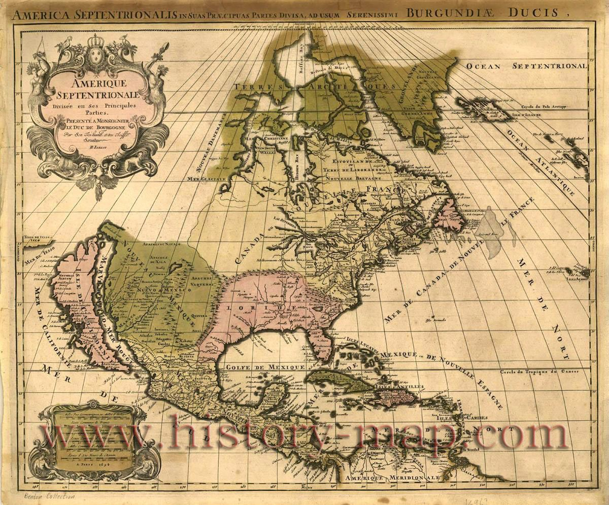 The Dutch Had Holdings In The America Too  They Won Control Of - North america map 1700