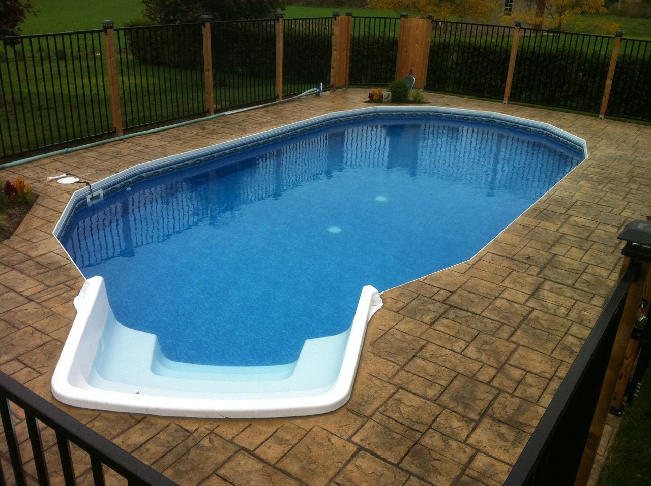 Fabcote Ultimate Pool With Optional Stair Fabcote Ultimate Pools Oval Pinterest Decking
