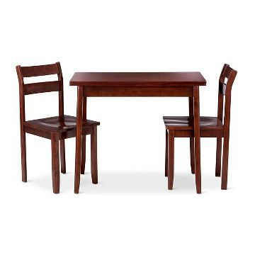 3 Piece Expandable Dining Set With Storage Threshold Dining