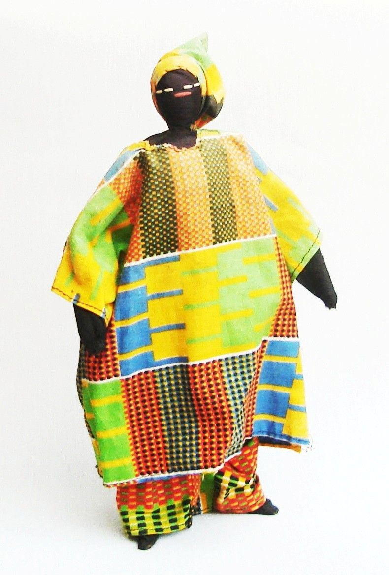Gambia Hand Made Male Doll Wearing The Traditional