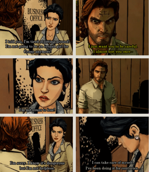 The Wolf Among Us Snow Literally Ticks Me Off All The Time In This Game The Wolf Among Us This Is Us Quotes Night In The Wood