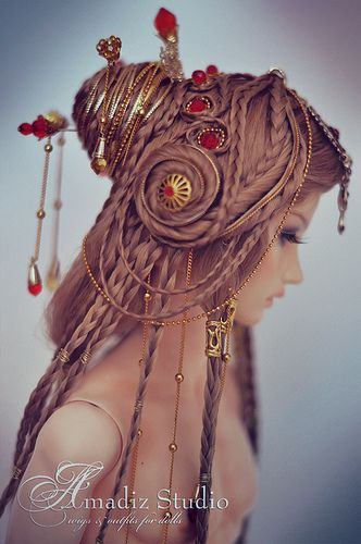 Akamie | Akamie - custom fantasy wig for RedLorna Model - Bo… | Flickr