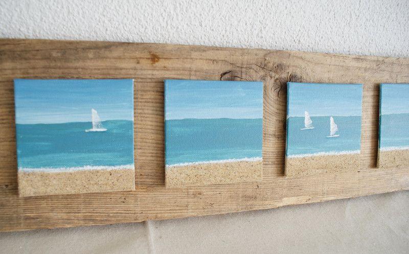 blick zum horizont acryl bilder auf holzbrett von nordic art auf einrichtung. Black Bedroom Furniture Sets. Home Design Ideas
