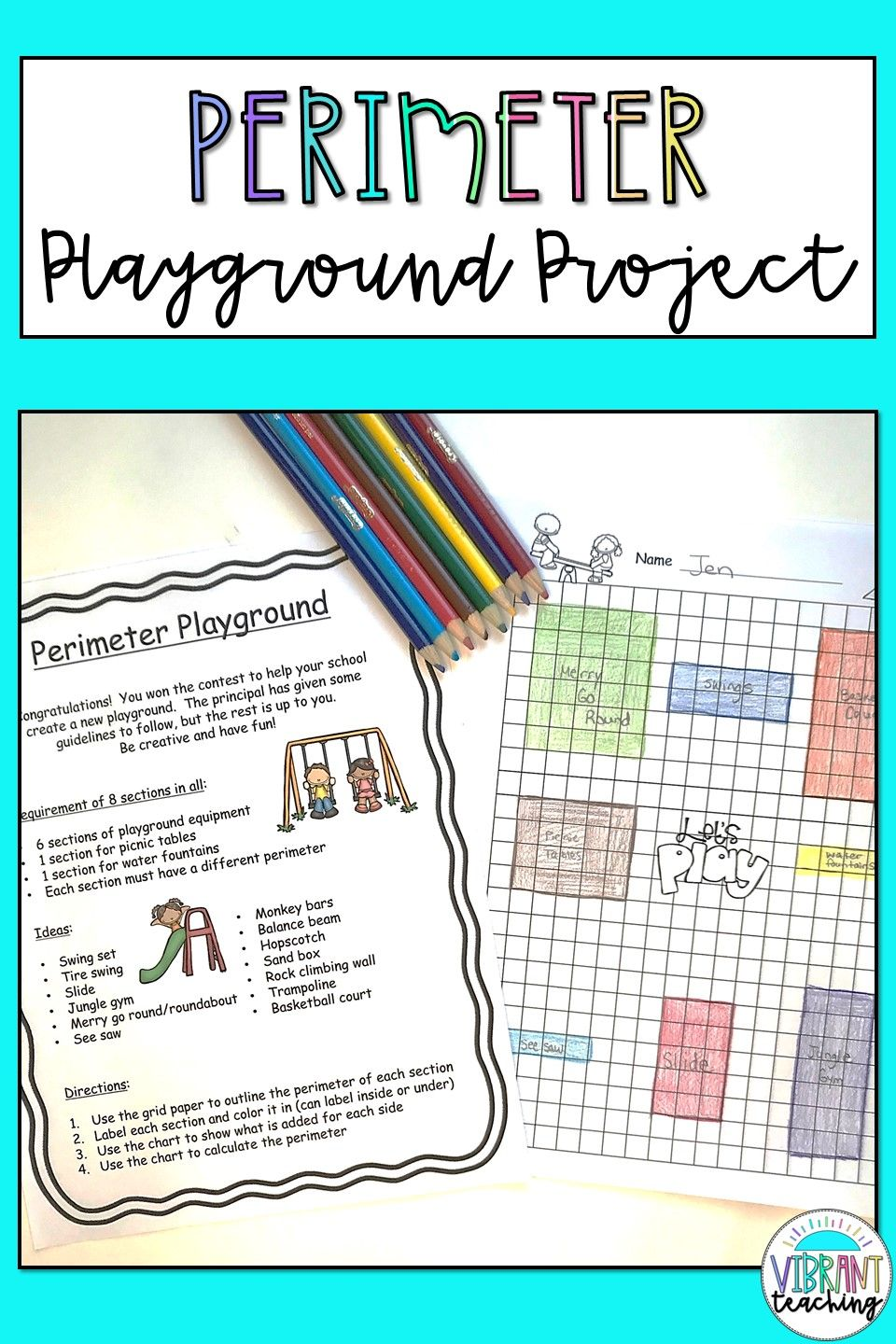 Perimeter Activity Playground Project 2nd Grade Math Worksheets Perimeter Activities Math Worksheets [ 1440 x 960 Pixel ]