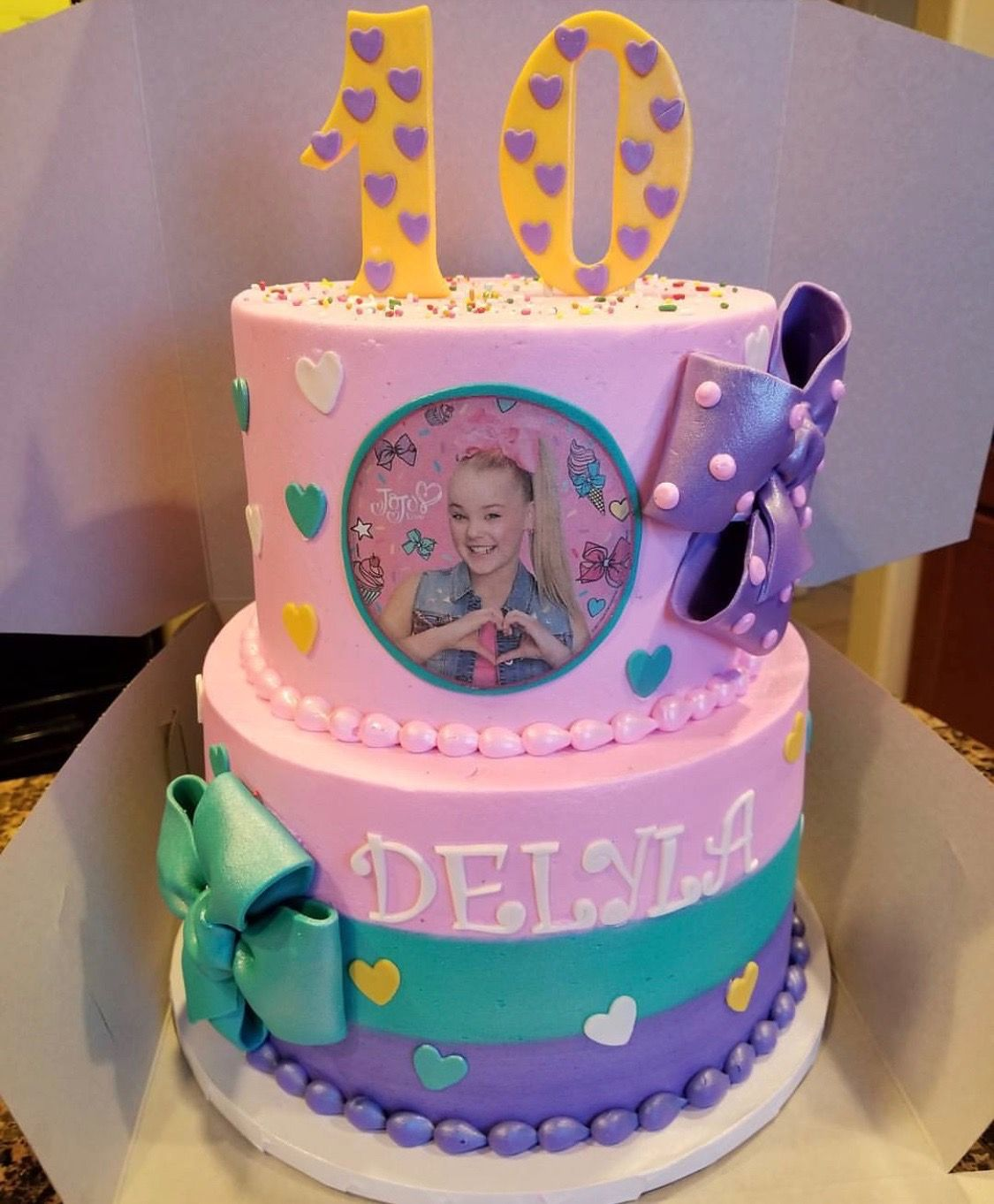 Jojo Siwa Birthday Cake Decorations