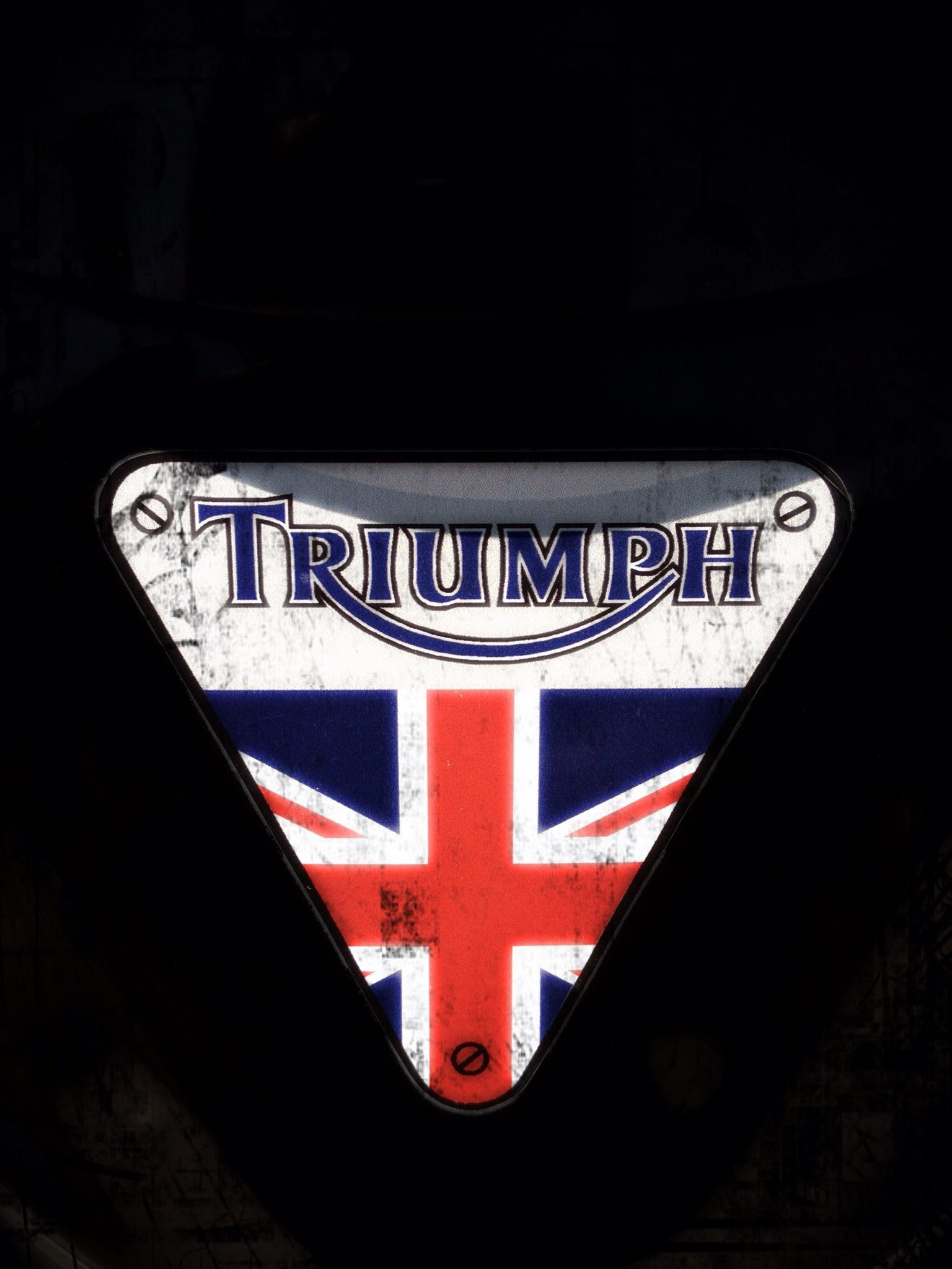 MTSS18501 Genuine Triumph Motorcycles Blue Vintage Logo T-Shirt