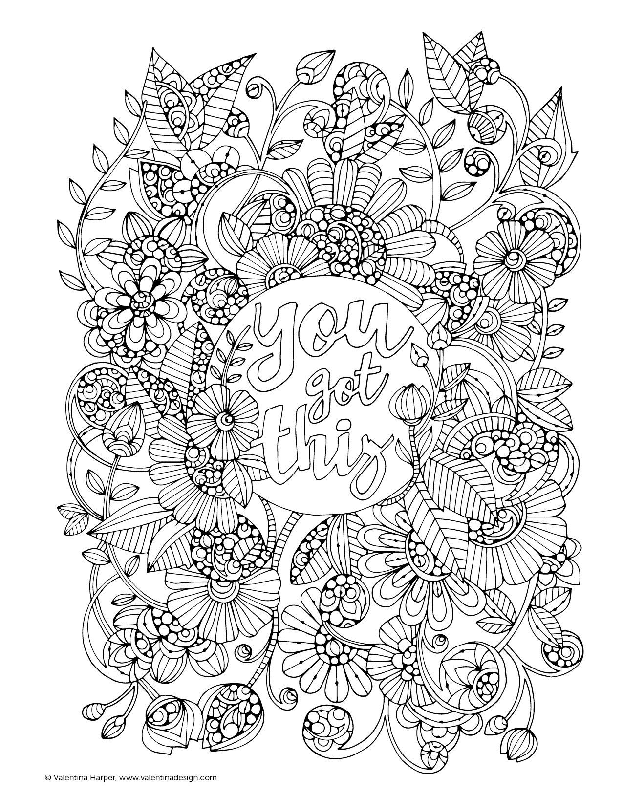 Coloring pages for donna flor - Creative Coloring Inspirations Too Art Activity Pages To Relax And Enjoy Amazon