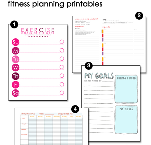 Free Printable Fitness Pages | Free Printables and ...