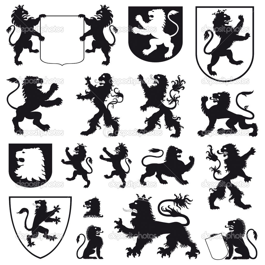 Image Detail For Silhouettes Of Heraldic Lions