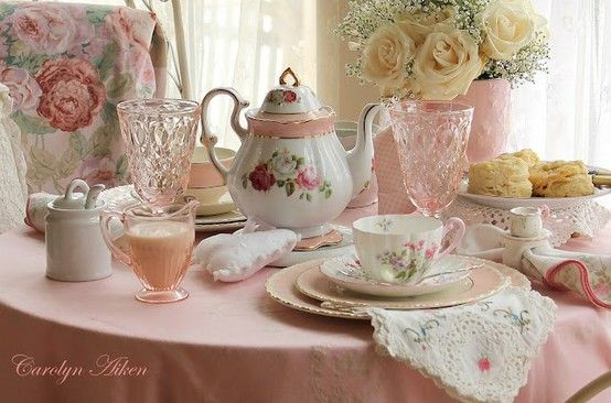 Very pretty dishes....for a TEA party!